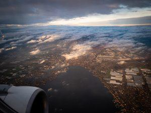 Vista su Amsterdam dal volo KLM